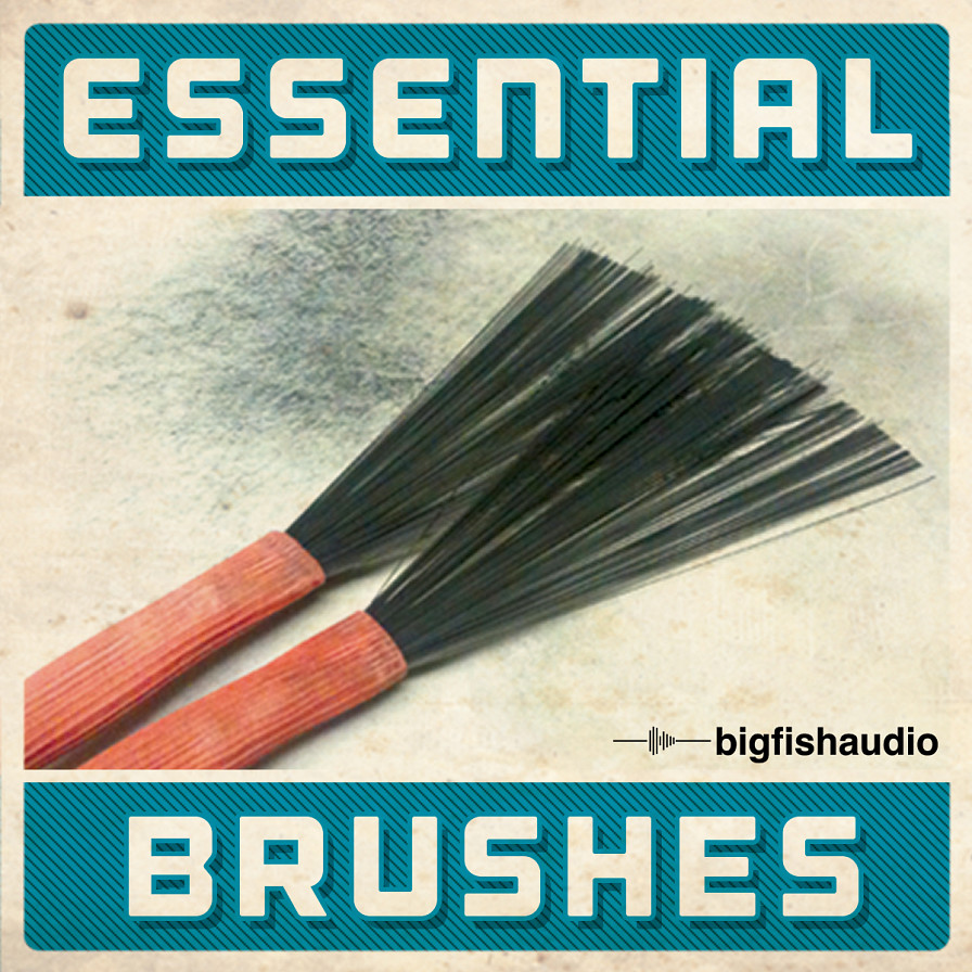 Essential Brushes - Brushes on 21 drumset combos that span a variety of genres and tempos