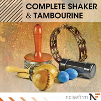 Complete Shaker & Tambourine - A wide array of meticulously sampled percussive instruments and textures