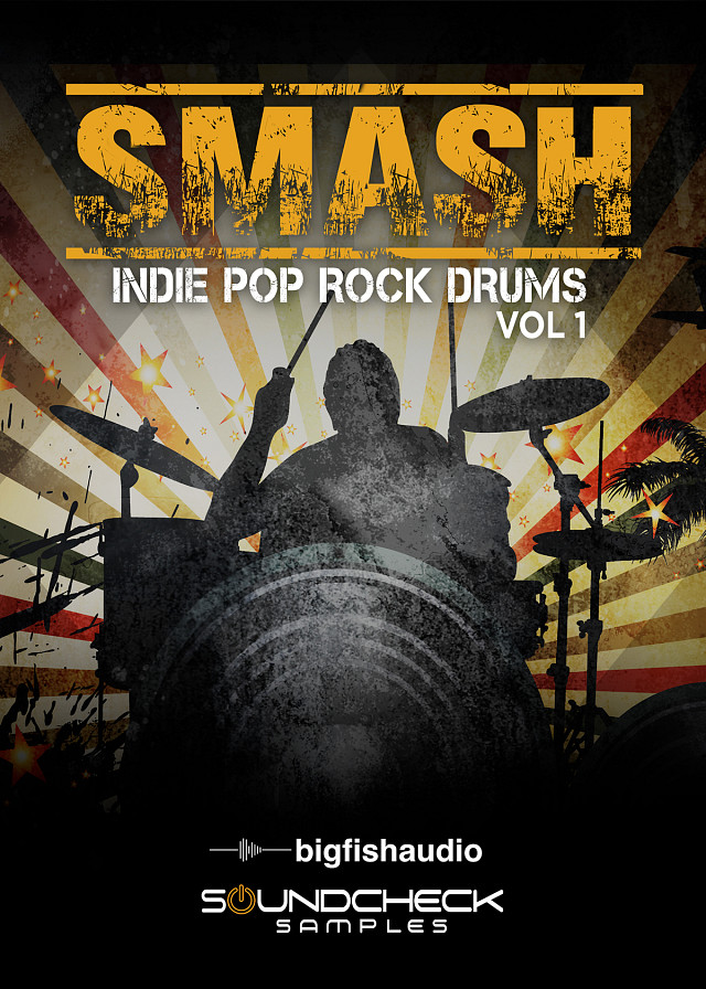 SMASH: Indie Pop Rock Drums Vol.1 - 12 kits in the styles of chart topping Indie, Pop, and Rock hits.