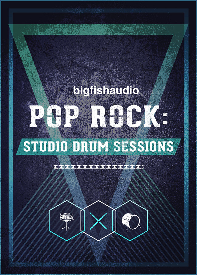 Pop Rock: Studio Drum Sessions - Over 16 GB of incredible sounding drum mixes and multi-track stems