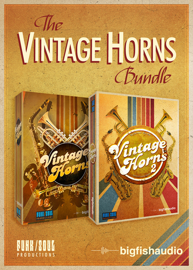 Vintage Horns Bundle - Two vintage horn virtual instruments at one amazing price!