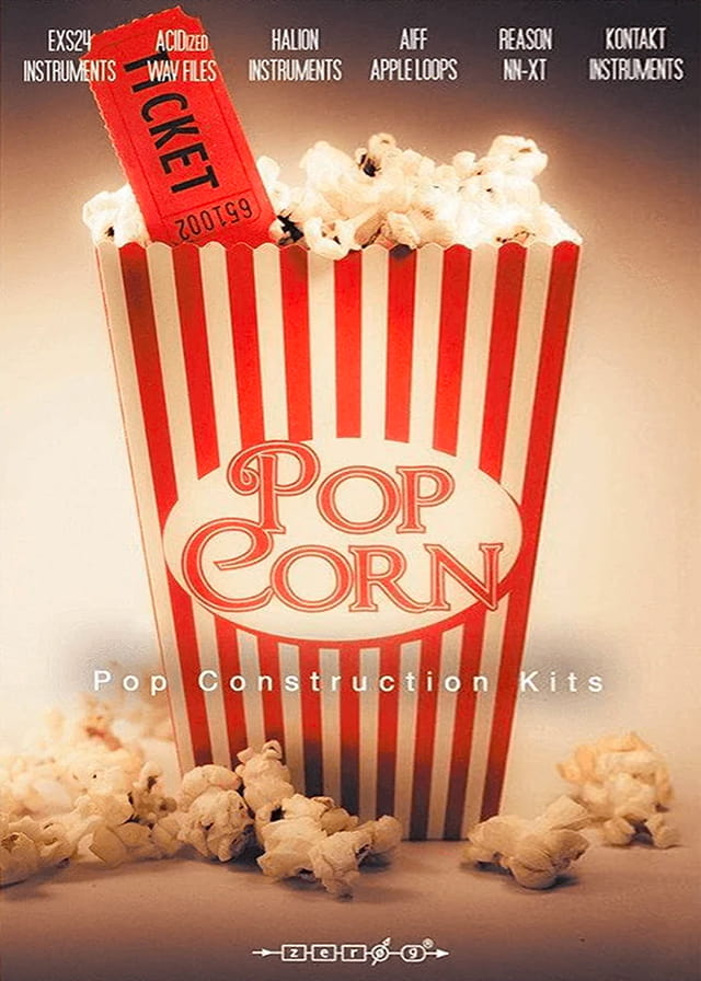 Popcorn - Pop Construction Kits - A huge 2.2 GB 24 Pop construction kit sound library