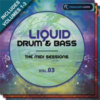 Liquid Drum & Bass: The MIDI Sesssions Bundle (Vols.1-3) product image