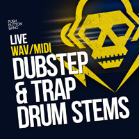 Live Dubstep & Trap Drum Stems product image