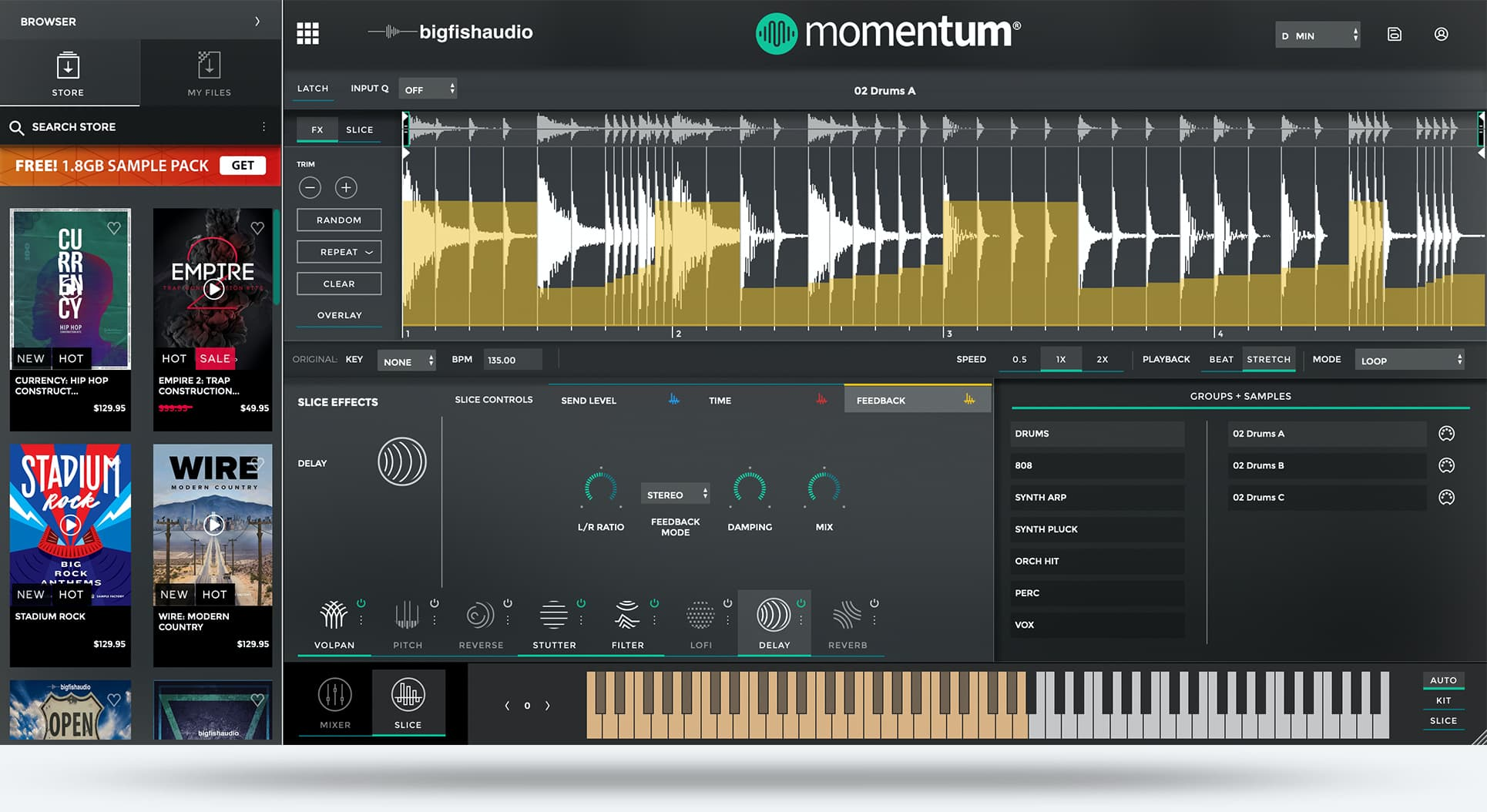 Big Fish Audio Momentum GUI Shot