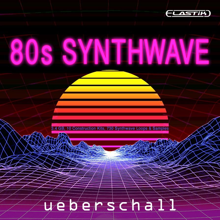 80s Synthwave - 10 massive construction kits of 80s synth-based hits