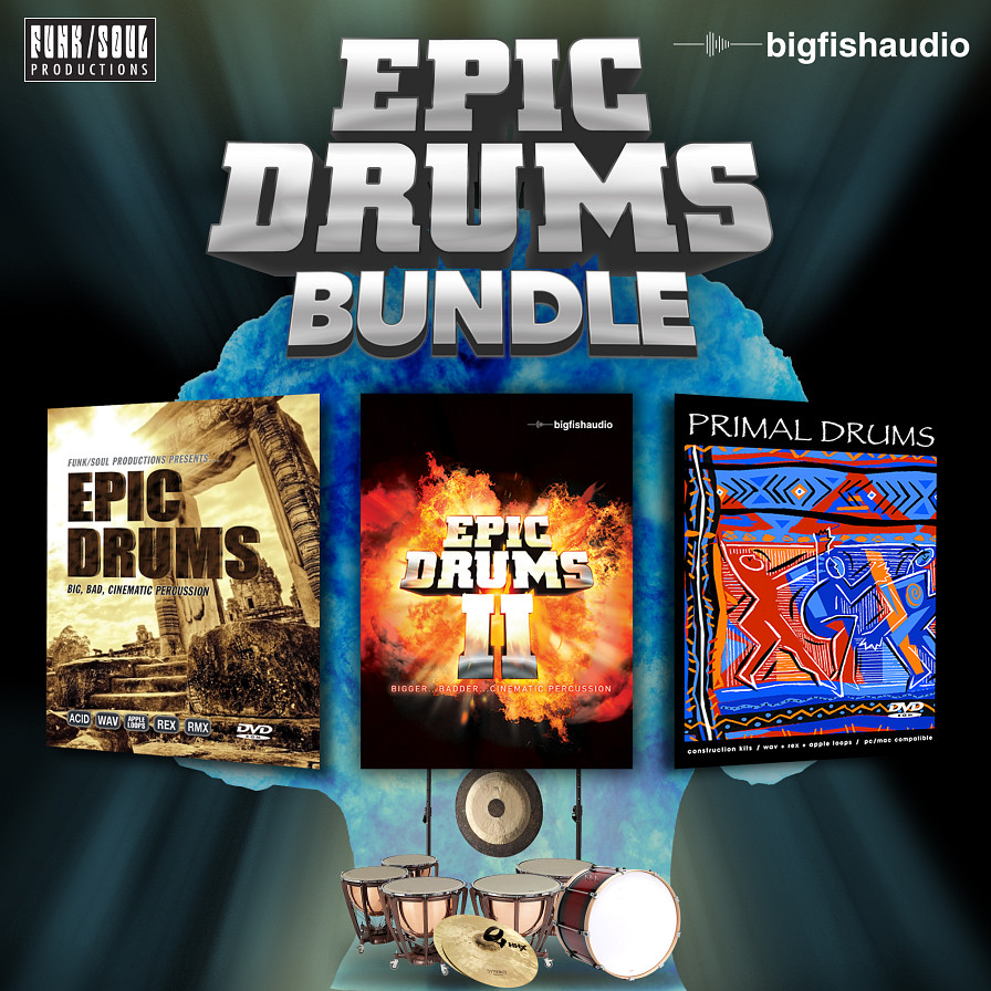 Epic Drums Bundle - A bundle of three big, bold, and EPIC drum libraries