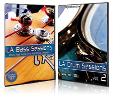 LA Drums and Bass Modular Pack - Bundle of LA Drum Sessions 2 and LA Bass Sessions