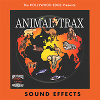 Animal Trax - 1200 sound effects containing anything from baboon screems to dolphin calls