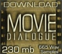 Movie Dialogue Vol 1 - 665 vocal samples from early film dialogue