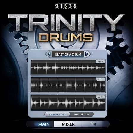 Trinity Drums - A powerfull collection of cinematic and modern grooves