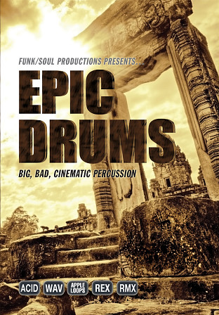 Epic Drums - A collection of high-energy, cinematic drum and rhythm beds
