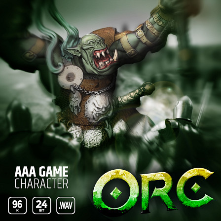 AAA Game Character Orc - Enlist a barbaric orc warrior onto the battlefield in your next game!