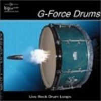 G-Force Drums - Rock drumloops: different kits,clean & reverb,4/4,12/8,6/4,2/4 & more