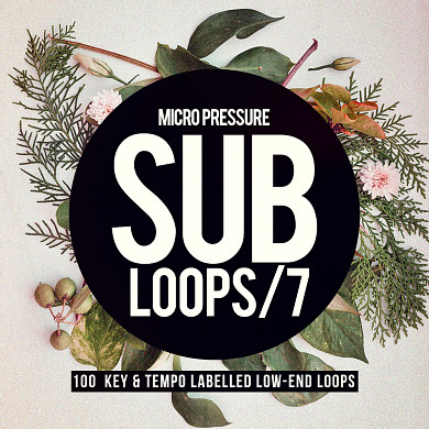 Sub Loops 7 - 100 key and tempo labeled low-end loops