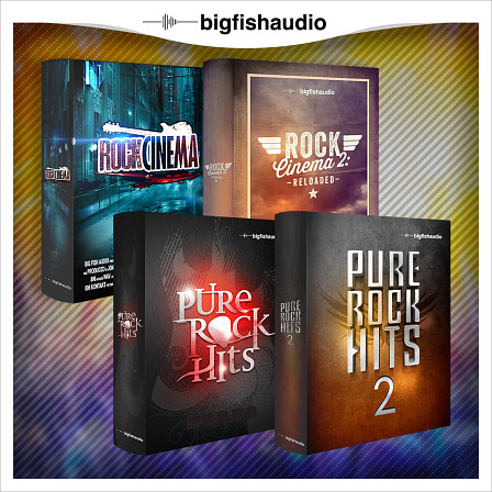 Pure Rock Cinema Bundle - An enourmous Rock bundle of 71 construction kits by Big Fish Audio