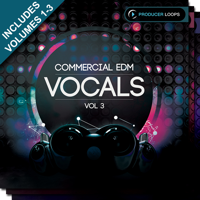 Commercial EDM Vocals Bundle (Vols 1-3) - Over 5 GB of powerful vocal-driven EDM Construction Kit products