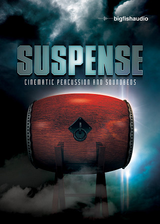 Suspense: Cinematic Percussion and Soundbeds - 20 kits of suspenseful cinematic percussion and soundbeds