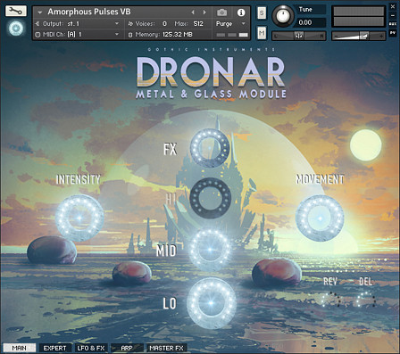 Dronar Metal and Glass - A collection of sounds ranging from pure and airy to distorted and dark