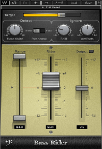 Bass Rider - An innovative, easy-to-use plugin that rides bass levels automatically