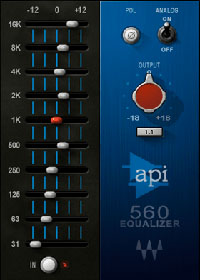 API 560 - A new graphic equalizer features precision filtering and high headroom