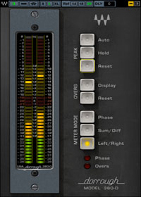 Dorrough Stereo - Maintain recording levels, group meters for loundess, or use it as master meter