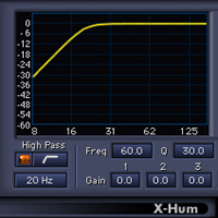 X-Hum - 8 Harmonic notch filters, frequency and amplitude attenuation display