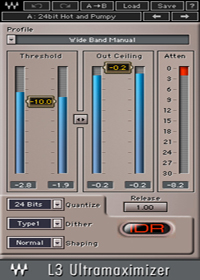 L3 Ultramaximizer - Peak limiter / level maximizer plugin