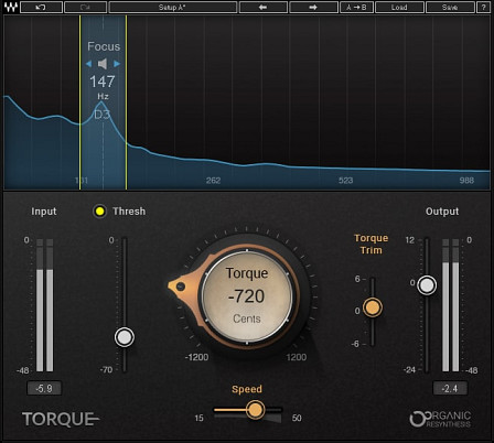 Torque - Tone shifter for acoustic and electronic drums