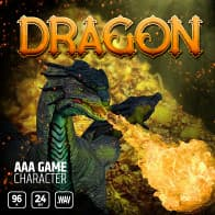 AAA Game Character Dragon product image