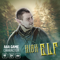 AAA Game Character High Elf product image